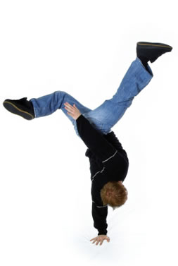 breakdancing man